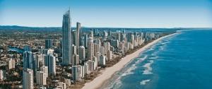 Cold Coast skyline and beach